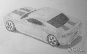 Toy Car Drawing by DokuPRODUCTIONS