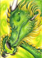 ACEO Renn - The emerald dream by ElorenLeianor