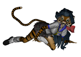 Ralune in cosplay -anthro form by Tailikku1