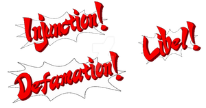 Ace Attorney custom exclamations by Chroniton8990