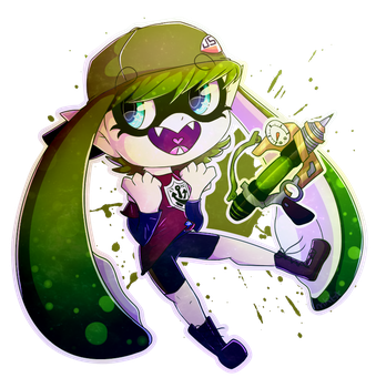 ~COMMISSION~ Lycaon-the-wolf- SPLATOON OC by kosmiik