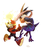 ElecvsGreninja by Sony-Shock