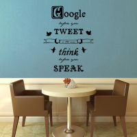 Google Before You Tweet Wall Decal by GeekeryMade
