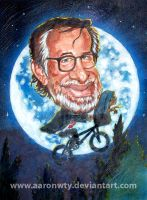 Spielberg caricature by aaronwty
