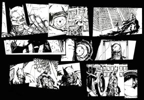 Inking full Capullo page by Roman-Stevens