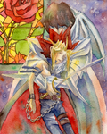 Prince of red rose and Knight of white rose by Inakunaru-Yagi