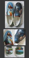 Harry Potter shoes by Revonael