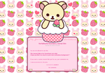 Korilakkuma Strawberry Journal by anineko