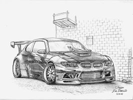 BMW M3 drawing by orangenes