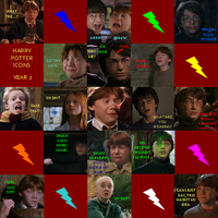 Harry Potter Icons- Year 2 by CaliAli16