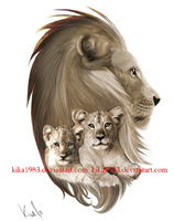 Lions tattoo-commission by kika1983