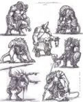 creature sketches by SamMuk1R1
