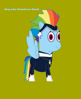 My Little Pony - Rainbow Dash as Zap by worldofcaitlyn