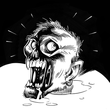 Zombie Head by PunkMonkeyStudios