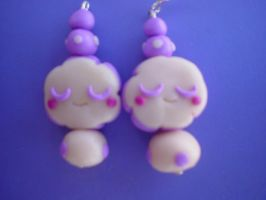 lilac clouds earrings by Libellulina