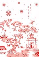 Chinoiserie Christmas 1 by cecilliahidayat