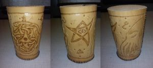 Lovecraft Inspired Dice Cup by Zarganath