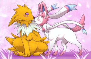 I love you - Jolteon and Sylveon by Kuramuri