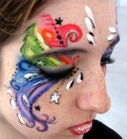 ...Swirly Face Paint... by lygicaphisalogue