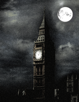 Nightfall Over Big Ben by MrAngryDog