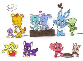 Care Bear Cousin Cubs by KessieLou
