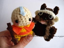 Aang and Appa Amigurumi by AnyaZoe