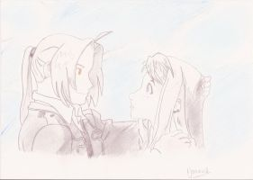 ED AND WINRY by Ynnck