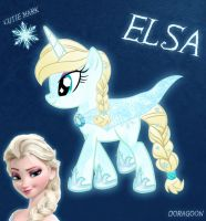 Elsa Pony From Frozen by Doragoon