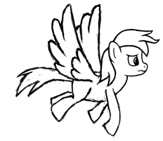 Rainbow Dash Flying Drawing Progress Animation by caffeinejunkie