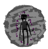 Enderman wallpainting Button by Shinyako