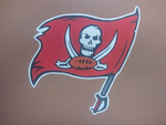 Tampa Bay Bucs Canvas Acrylic  painting by Analdi