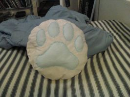 Pawprint Pillow by nimaid