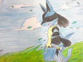 Me and my brother Lucario by Mewtwosama10299