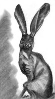Hare Sculpture drawing by 7ink3r3lla