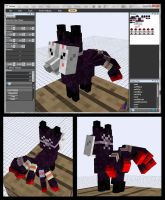 Minecraft Demon Vulpix Mob model by FuzzyAcornIndustries