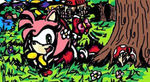 Amy Layin'Around - Old MS Paint drawing by MissTangshan95