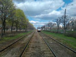 The tram rails2 by Dream-tyan