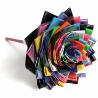 Multicolored Flower by DuckTape-Rose
