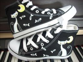 Shoes - Le chat blanch by invictas-shoes