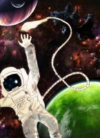 Astronaut Drawing in process.... by RabbitDoubt618