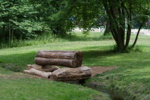 Log Fence over Ditch by LuDa-Stock