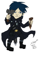 Lil' Fantasy 133 - Vampire Hunter Male by Shapshizzle