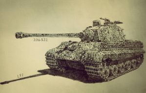 King Tiger Tank by lhlclllx97