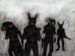 Black ops bunnies by Madcapmarsupial