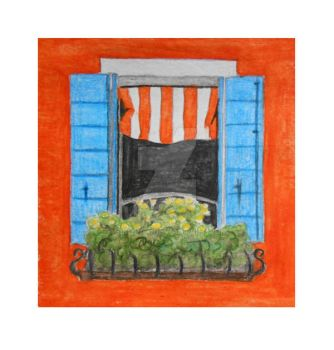 Window, Burano, Italy - illustration by Sikorax