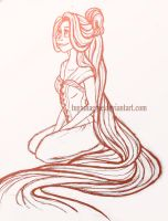 'nother Rapunzel sketch by tugaMaggie