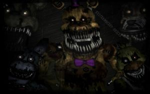 Five nights at Freddy's 4 wallpaper by XxStrawberry-RosexX