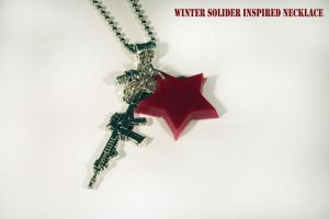 Winter Solider Inspired Necklace by KouranKiyo