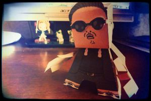 PSY papercraft by XDmoney