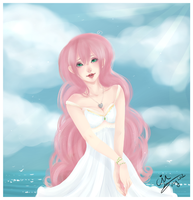 Pink hair and Sunshine by cindre